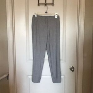 Grey cropped work pant